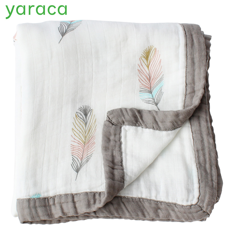2 слоя детское одеяло для новорожденных из бамбукового волокна хлопка муслин пеленать для младенцев детское постельное белье лист игровой ... ...