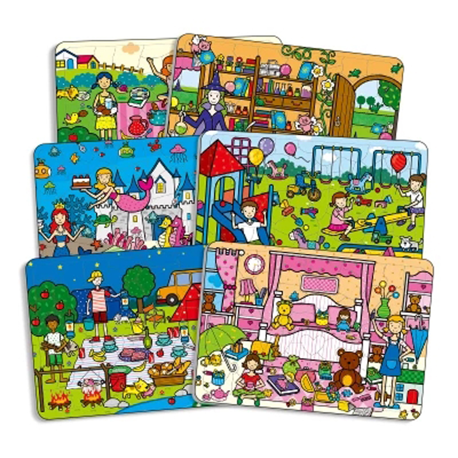 Children Puzzle Wooden Kids Jigsaw Toy Cartoon Baby ...