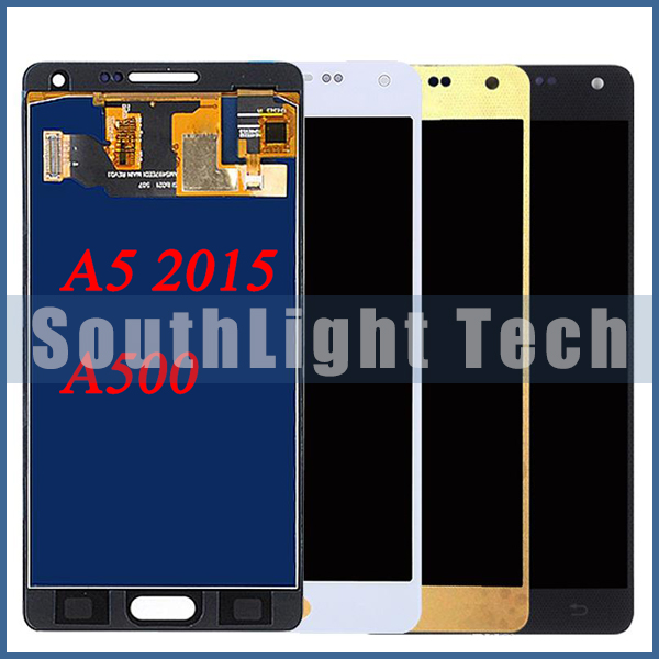 Super Amoled For <font><b>Samsung</b></font> <font><b>A5</b></font> <font><b>LCD</b></font> Display Touch Screen Digitizer A500 A500F A5000 A500FU A500M <font><b>LCD</b></font> Screen Assembly Replacement image