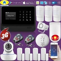 Seguridad de oro DIY G90B Plus + 3g GSM WIFI IOS Android Control de APP de casa inteligente Pet inmune sistema de alarma de incendio