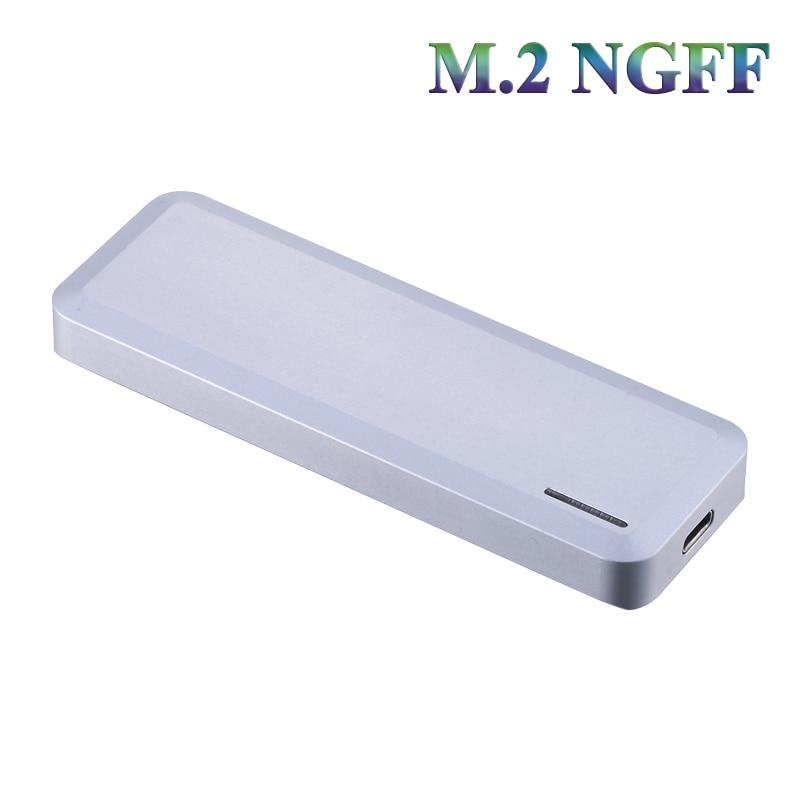 Boîtier externe en aluminium M2 NGFF type-c NGFF adaptateur NGFF usb3.1 (Gen 2 type-c) B ou B + M boîtier ssd hdd