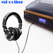 MPooling 33 45 78 RPM LP Record Turntable Player Cassette Player USB Recorder AM/FM Radio Built-in Speakers Headphone Jack