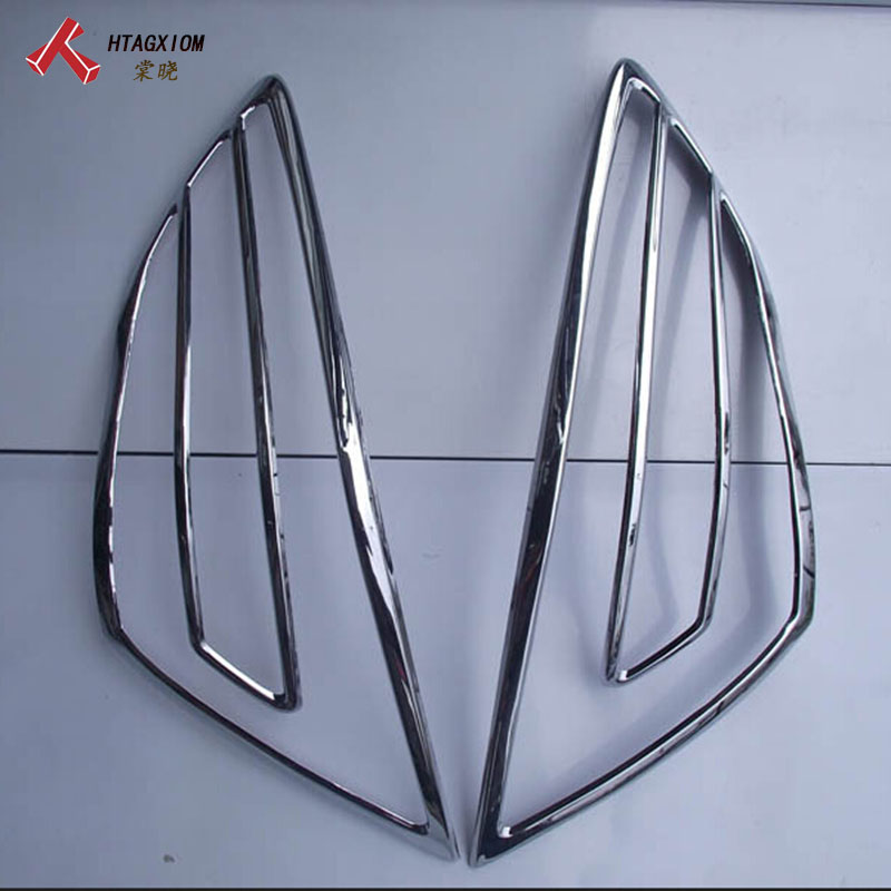 for Nissan Teana J32 2009-2013 Rear Light Lamp Cover Trim ABS Chrome Decoration Car Styling Car Stickers Accessories 2pcs jgrt chrome rear window wiper cover trim for 2013 2014 2015 frod escape kuga new high quality chrome stickers trim car styling c