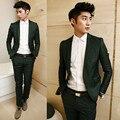 Os novos 2016 homens boutique de moda cavalheiro ternos de vestido de casamento/high-end dos homens de negócios ternos (jaqueta + calça)