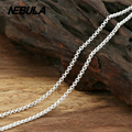 Thai Silver 2mm Double Link Chain Necklace New Fashion 100% Authentic 925 Sterling Silver Necklace Women Men jewelry