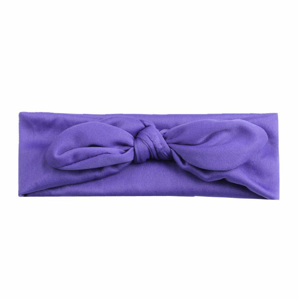 Модная головная повязка с бантиком для девочек, обруч-тюрбан с бантиком для девочек, детские тюрбаны, аксессуары, повязка на голову для малышей