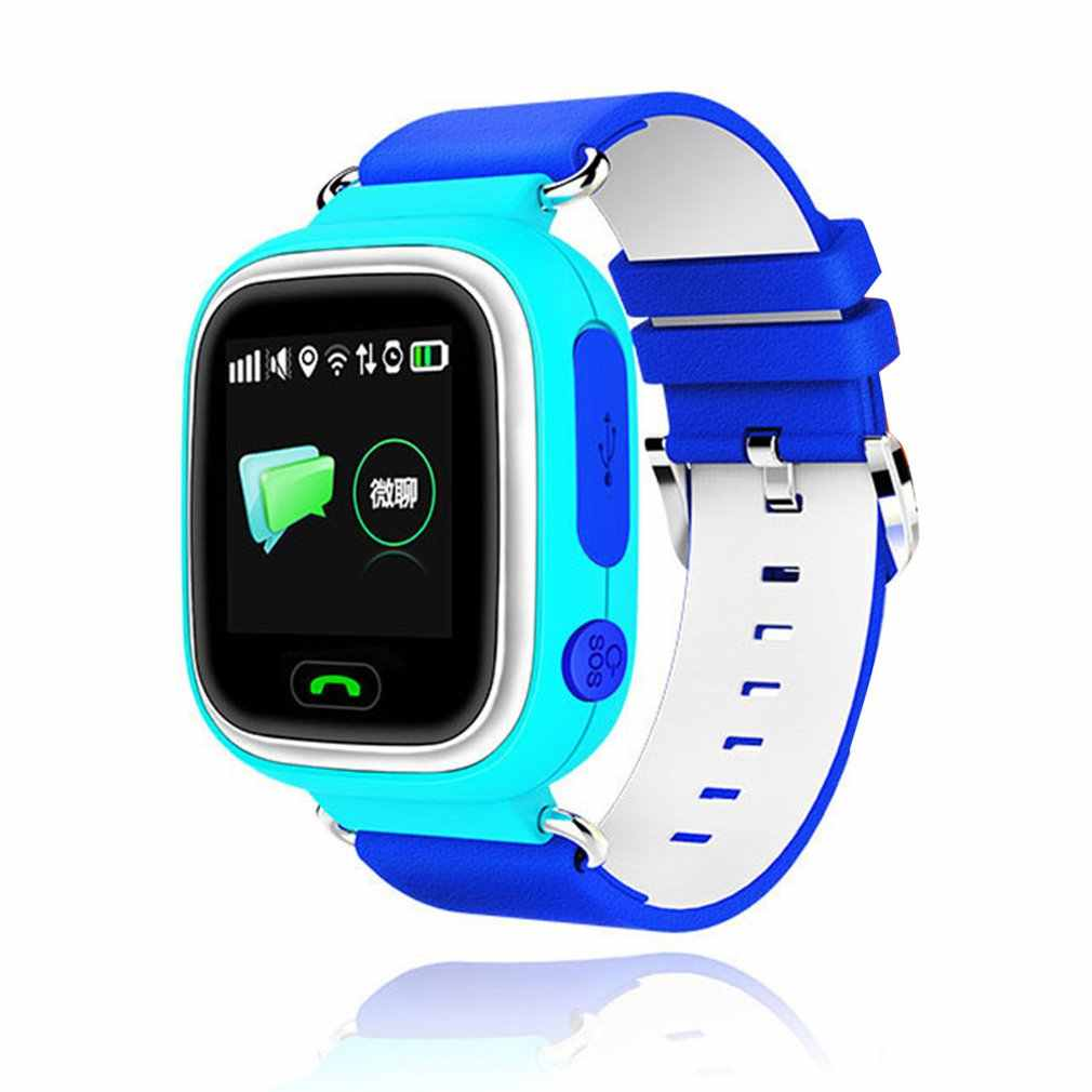 Q90 Children Smart Watch GPS Wifi Tracker SOS Phone Call Anti-Lost Color Touch Screen Kids Wristwatch support Russian/English