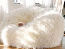 Lazy Couch Sheep Wool White Sheep Velvet Bean Bag Sofa Floor Bedroom Bay Window Single Sofa Chair(China)