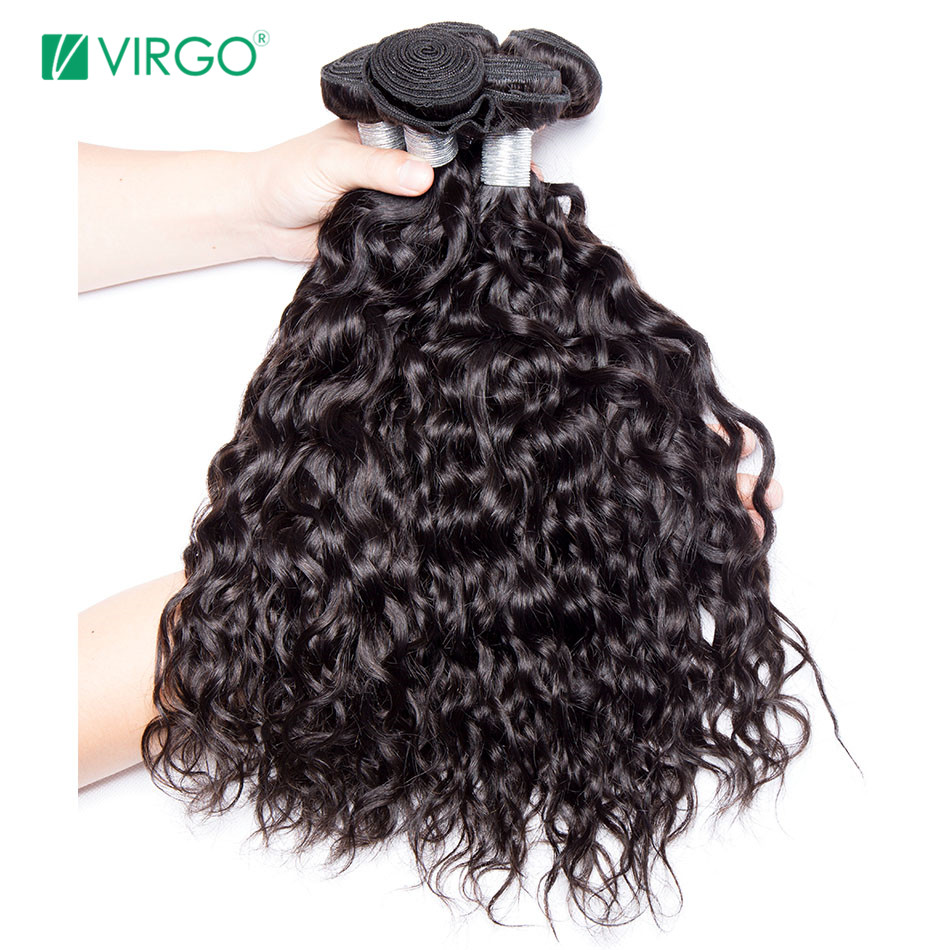 De Cheveux humains Weave Bundles Malaisiens Faisceaux de Cheveux de Vague D'eau 1/3 PCS Vierge Cheveux Remy Hair Weave Peut Être Teint Ne Sera pas Perdre Motif