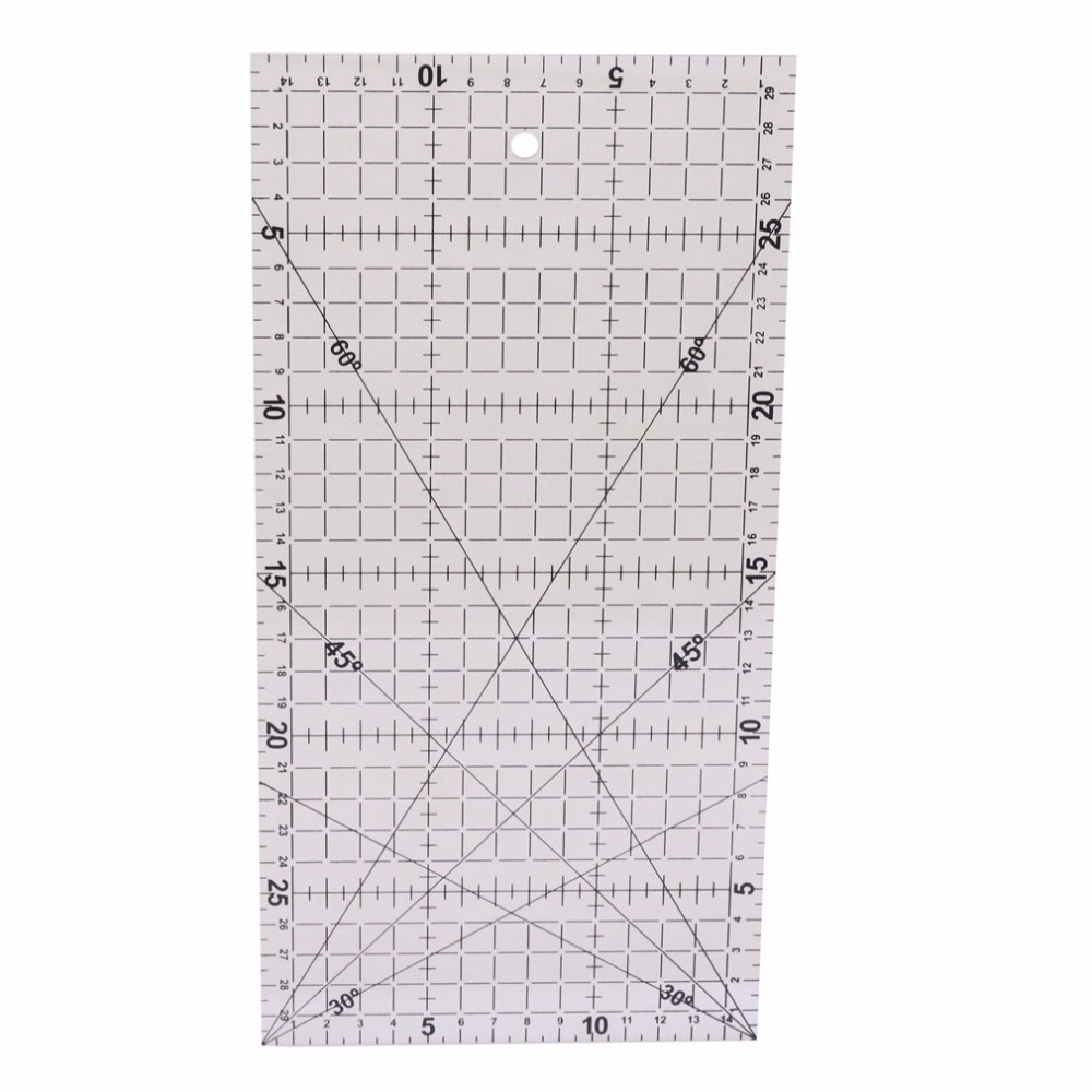 Bricolage À La Main Patchwork 1 Pcs Quilting Outils Approximatif Bleu Acrylique Matériel 30cm * 15cm Patchwork Ruler Black Scale Ruler