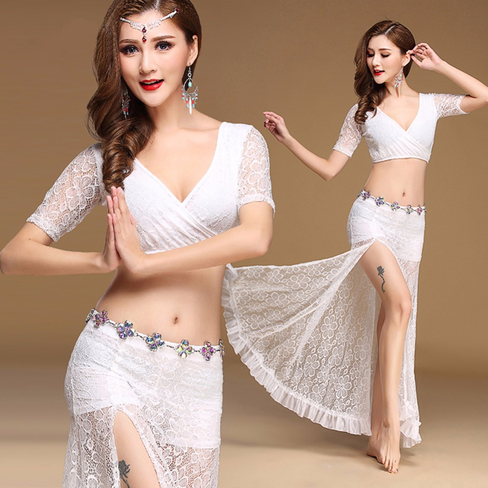 83213ab7b Good Bollywood Dance Suit 3 Piece Tops with Skirt Indian Sexy Ropa De Danza  Del Vientre Vestido Popular Belly Dancer Costumes 11149 offers where can We  ...