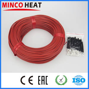 High Quality new infrared heating cable system 3mm Silicone carbon fiber heating wire with tubes for warm floor
