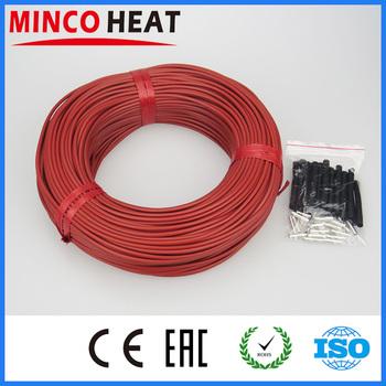 Wysokiej jakości nowe ogrzewanie na podczerwień systemy kablowe 3mm silikonowe z włókna węglowego przewód grzejny z rury do ciepłej podłogi tanie i dobre opinie MINCO HEAT RUBBER carbon fiber CF-12-R Stranded Izolowane Carbon fiber heating wire 33 Ohm m Silicone rubber 3±0 2 mm 7~300 V