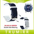 22mm 24mm caucho de silicona correa para breitling correa doble cara vistiendo mujeres de los hombres de venda de reloj de pulsera pulsera de la correa multi color