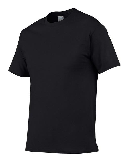 Europe Size Solid Color 100 Cotton T Shirt Mens