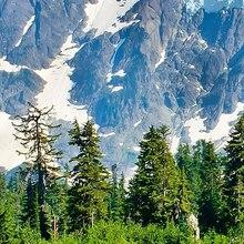 Snow Mountain Plateau Natural Scenery 3D Photo Wallpaper