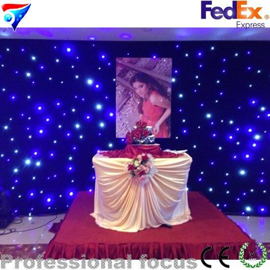 Livraison gratuite chine Sexy étoile rideau 2 m * 3 m rideau étoilé Led paquet 2 m * 3 m Led Dj paquet 2 m * 3 m Led starfabric