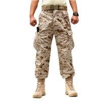 חיילי צבא גברים מטעני מכנסיים טקטיים צבאיים קרביים פיינטבול צייד ג 'ונגל מכנסיים עבודה CS מכנסיים ההסוואה פיתון