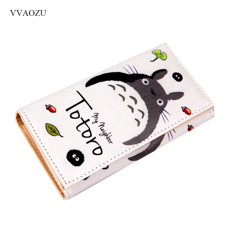 Women Wallet Totoro Cartoon Purse Card-Holders Clutch Money-Coin Girls Lovely Long Carteira-Feminina
