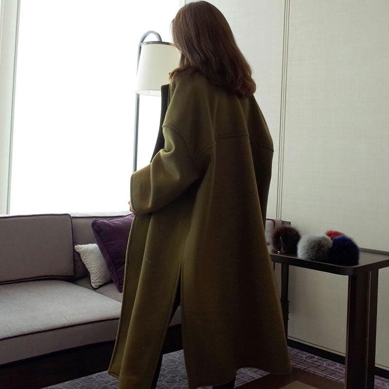 Army Turn Femmes xitaoCorée 2018 Col Longs Femme Cxb1189 Green Automne Solide Manches Couleur down Mélanges Vintage Cardigans Manteaux Nouveau Pleine E9IYDWH2