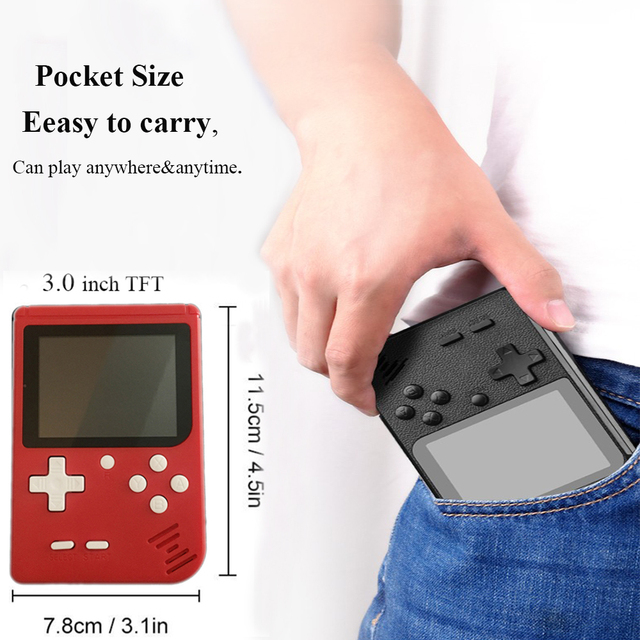 Classic Mini Game Consoles, JJFUN FC280 Handheld Games Built-in 400 Retro FC TV Video Games with 3.0 Inch LCD 1 USB Charge