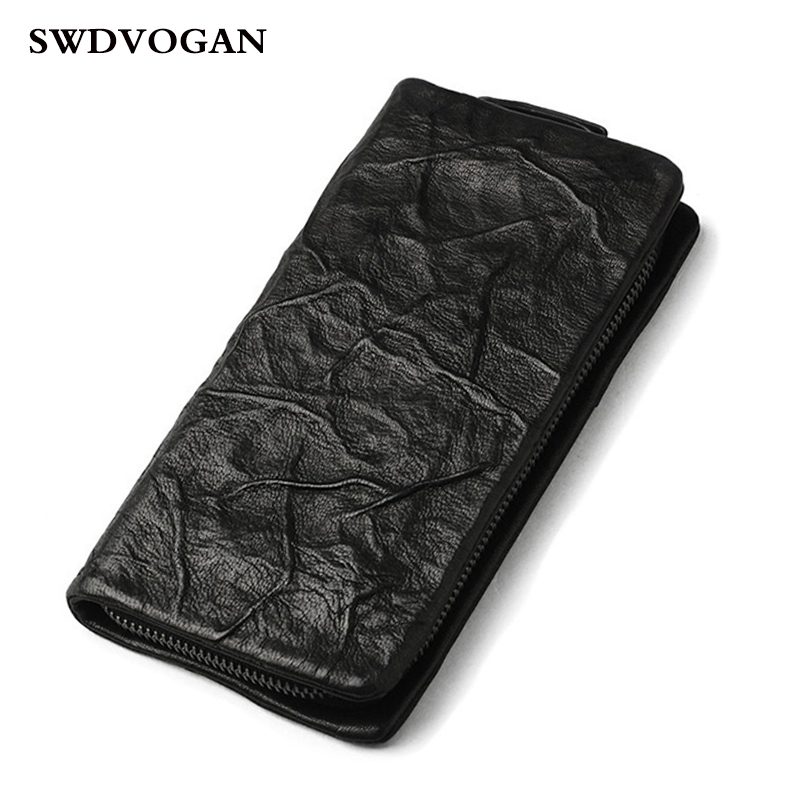 Genuine Leather Men Wallet Clutch Phone Bag Case Fashion Brand Purse For Coins Card Holder Long Male Wallets Carteira Masculina