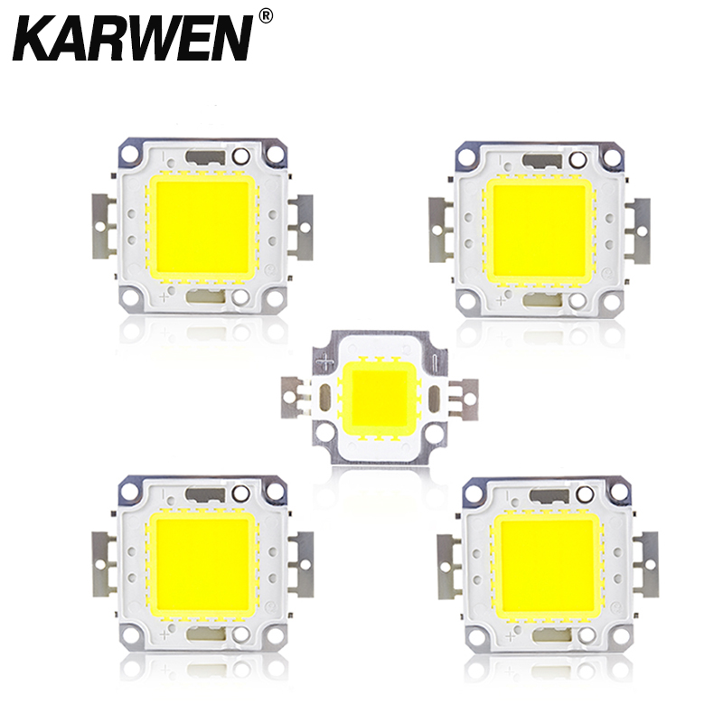 KARWEN Real Power 10W 20W 30W 50W COB Integrated LED Chip Lamp DC 30-32V For DIY Flood light Spotlight Bulb Led Chips Beads
