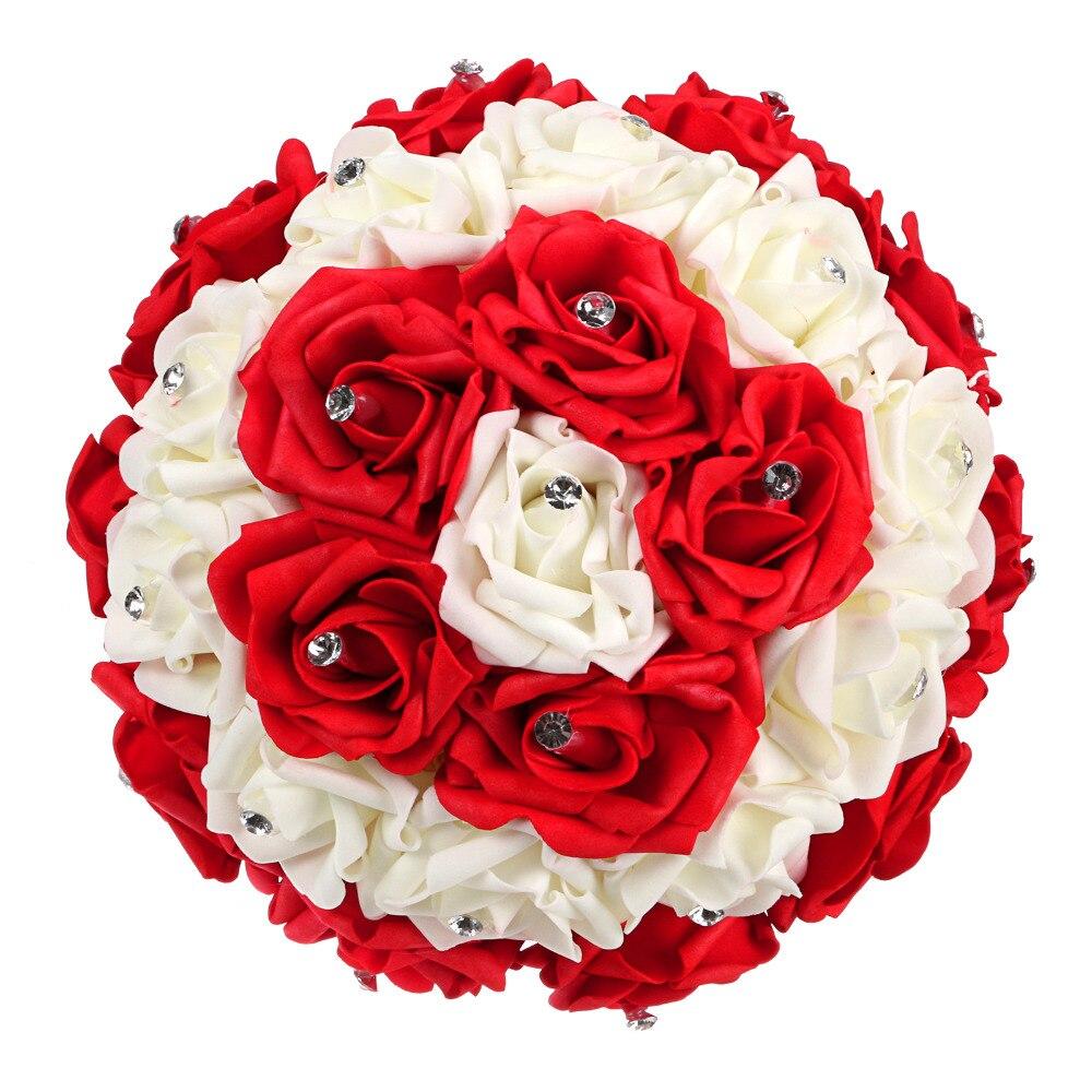 red color bride bouquet !12\