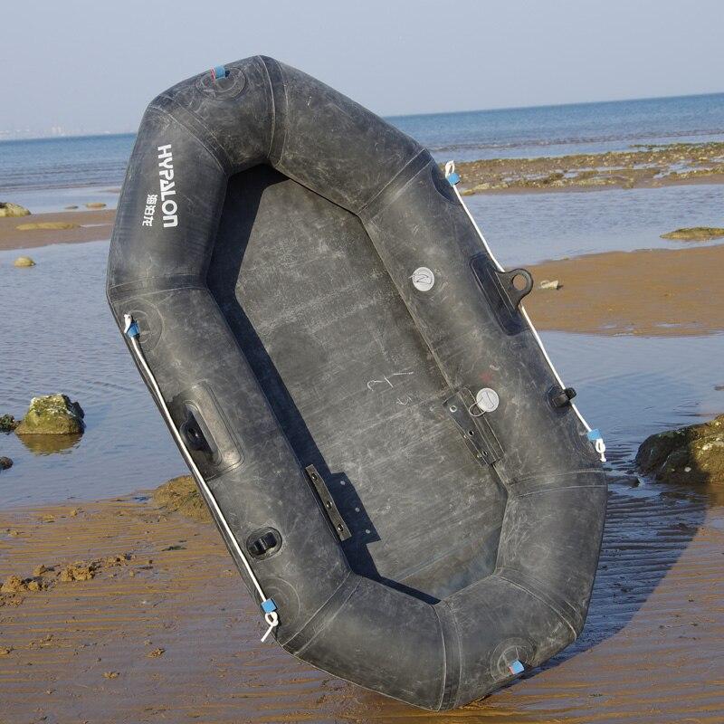 Bote inflable duradero de goma gruesa bote de pesca de calidad militar bote a la deriva 173*98 cm 101 kg rodamiento 150