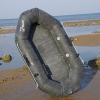 Durable Inflatable Thickened Rubber Dinghy Military Quality Kayaking Fishing Boat Drifting Boat 173*98cm 150kg Bearing 101