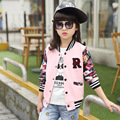 New Letter Baseball Coat Girls Spring Jacket Teens Printing Loose Tops  Cardigan Kids Outerwear Children's Clothing 6-13 Years