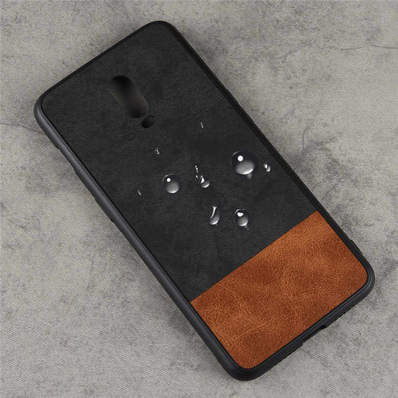 save off df548 09a4c For Oneplus 6T McLaren Edition case cover For Oneplus 6T McLaren Fabric  Cover Case Silicone edge full Cover Back frosted Case