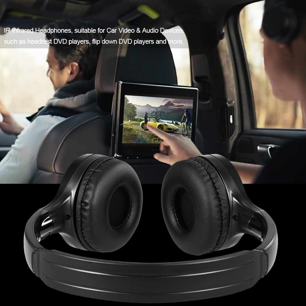 Ir Infrared Wireless Headphones Stereo Headset Car Wired Earphone Dual Channel For In Car Dvd Player Headphone Headset Aliexpress