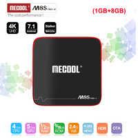 MECOOL M8S PRO W Android 7.1 TV Box Amlogic S905W Quad Core Smart TV Box 1GB RAM 8GB ROM 2.4G WiFi 100M LAN H.265 4K Set Top Box