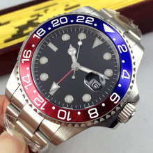 43mm Bliger Black Sterile Dial Luminous Marks Top Luxury Brand Date GMT Automatic Mechanical mens Watch