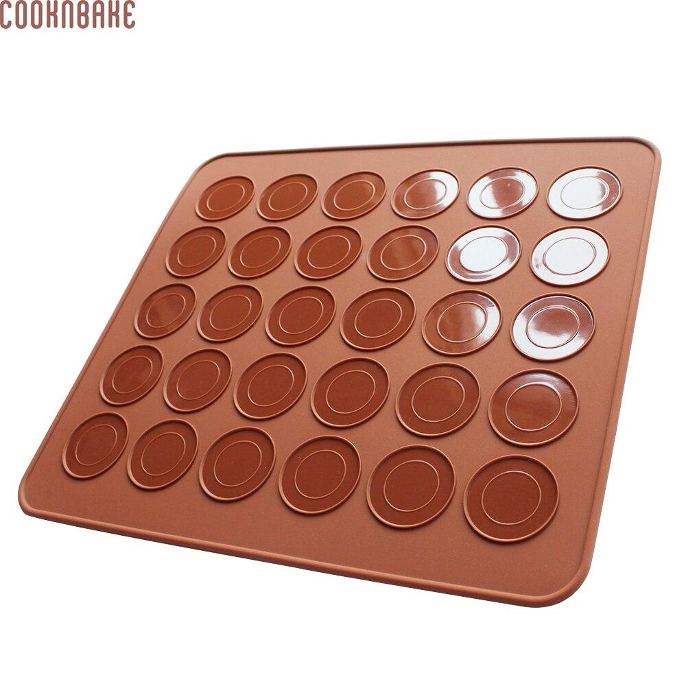 COOKNBAKE DIY 26 * 29cm 마카롱 패드 소형 원형 케이크 베이킹 쿠션 패드 실리콘 오븐 매트 CDSM-098