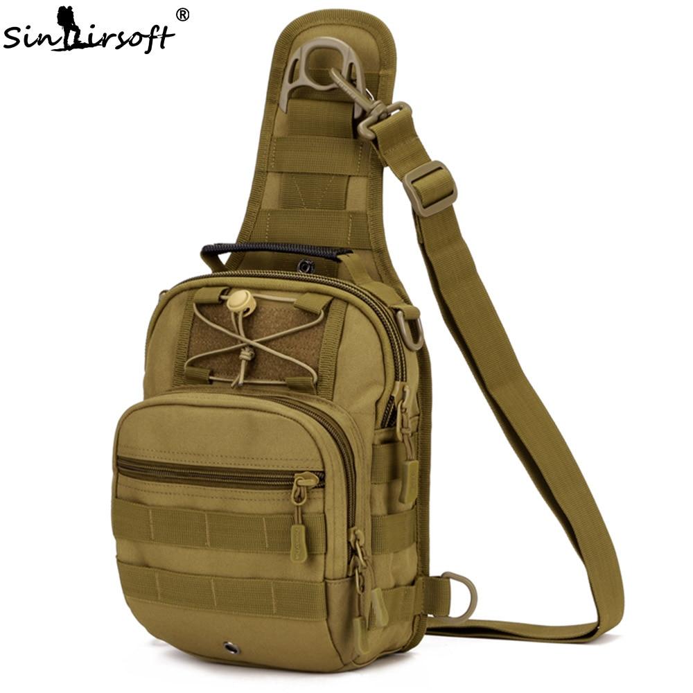 SINAIRSOFT Sport Caccia Uomini Tattico Militare MOLLE Singolo sacchetto di Spalla sacchetti di Nylon Wading Petto Pack Unisex LY0001 LY0002