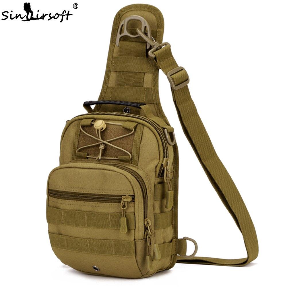 SINAIRSOFT Sport polowanie mężczyźni taktyczna wojskowa MOLLE torby na jedno ramię Nylon brodząc torba piersiowa Unisex LY0001 LY0002 w Torby myśliwskie od Sport i rozrywka na title=