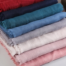 LARRIVED New Cotton Linen Scarf Solid Color Monochrome Candy Colored Femme Women Gift Beautiful Scarves