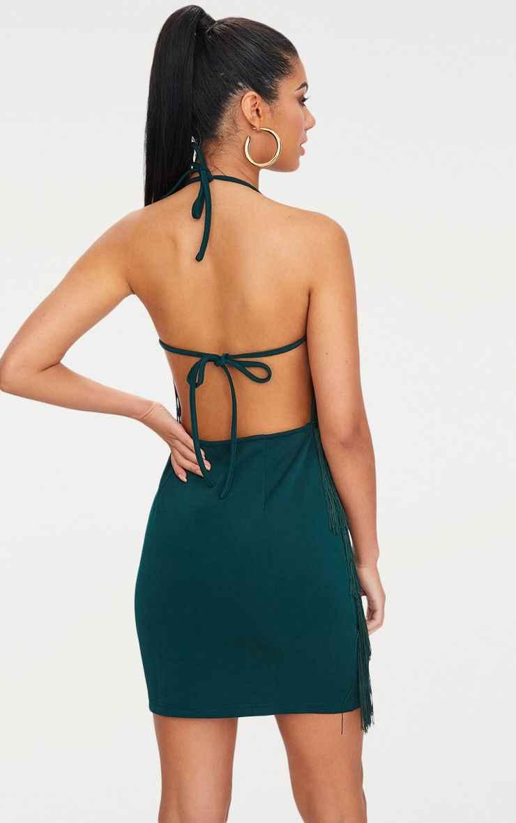 46a833af ... Sexy vestido Party dress women befree summer Backless bandage Halter  Black green tassel Mini Dresses elegant ...