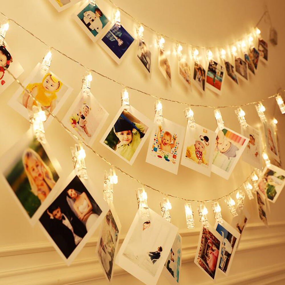 LED Card Photo Clip Led String Fairy Lights Battery Operated led ...