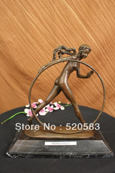 free Signed Demetre Chiparus Art Deco Nude Woman Bronze Marble Base Figurine Figure fast|figure women|figure nude|figure free - title=