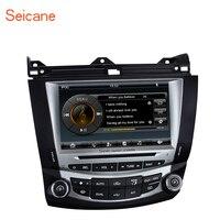 Seicane ВЗДРАГИВАНИЕ 8 дюймов стерео радио gps DVD HD Сенсорный экран мультимедийный плеер для 2003 2004 2005 2006 2007 Honda Accord 7