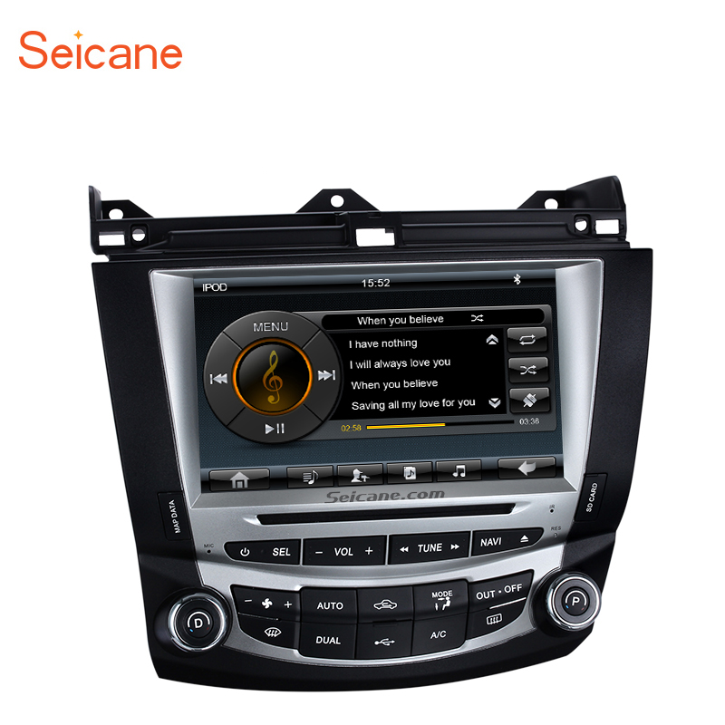 Seicane WinCE 8 inch Car Stereo Radio GPS DVD HD Touch Screen Multimedia Player For 2003 2004 2005 2006 2007 Honda Accord 7