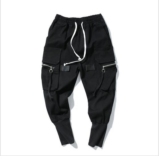 Spring and summer much wind function of pocket zipper male money movement who work attire foot trousers haroun pants