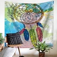 Colorful Tapestry Dreamcatcher,Feather Tapestry Mandala Wall Hanging Bohemian Tenture Murale Mandala Blanket Tapiz Pared 150x130