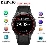 Смарт часы KW88 Pro 1,3 AMOLED Сенсорный экран Smartwatch сердечного ритма 2.0MP Камера Поддержка 3g Wi Fi gps SIM для IOS samsung Шестерни S3