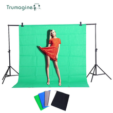 1.6X1M/4M/5M/6M Photography Backdrops Photo Background Fotografia Studio Green Screen Non Woven Solid Colors