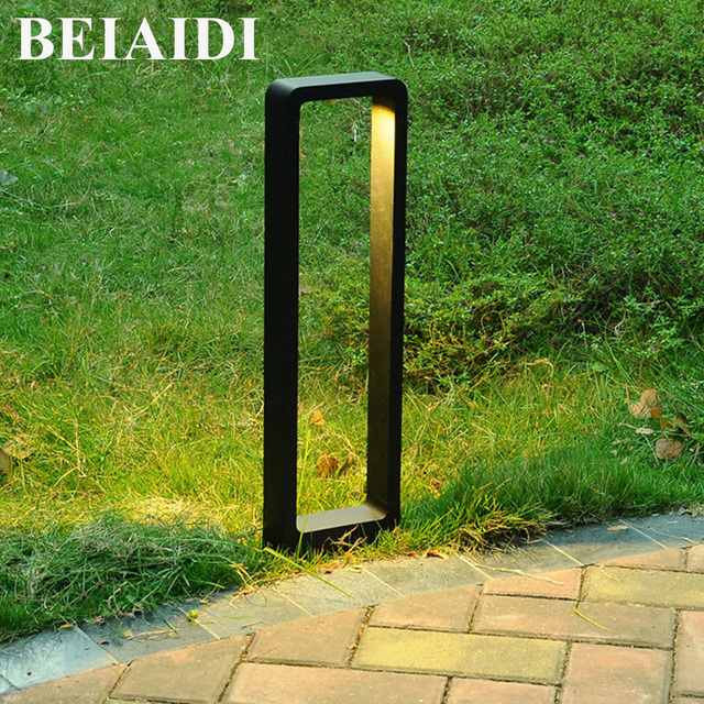 Charmant BEIAIDI 2pcs Waterproof Led Garden Light Outdoor Balcony Park Landscape  Post Garden Lawn Lamp Aluminum Pillar