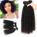 "Peruvian Virgin Hair Kinky Curl Human Hair 3 Bundles 8""-28"" Grade 10A Peruvian Kinky Curly  Rosa Hair Products Hair Bundles"